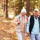 prechádzka, dôchodca, seniori