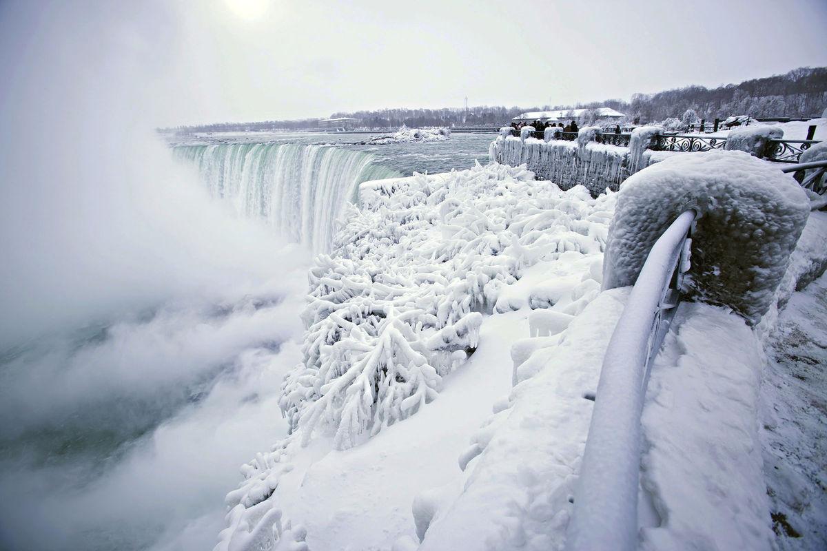 mraz, Niagarské vodopády