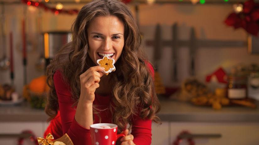 Vianoce, zima, keks, medovník, čaj