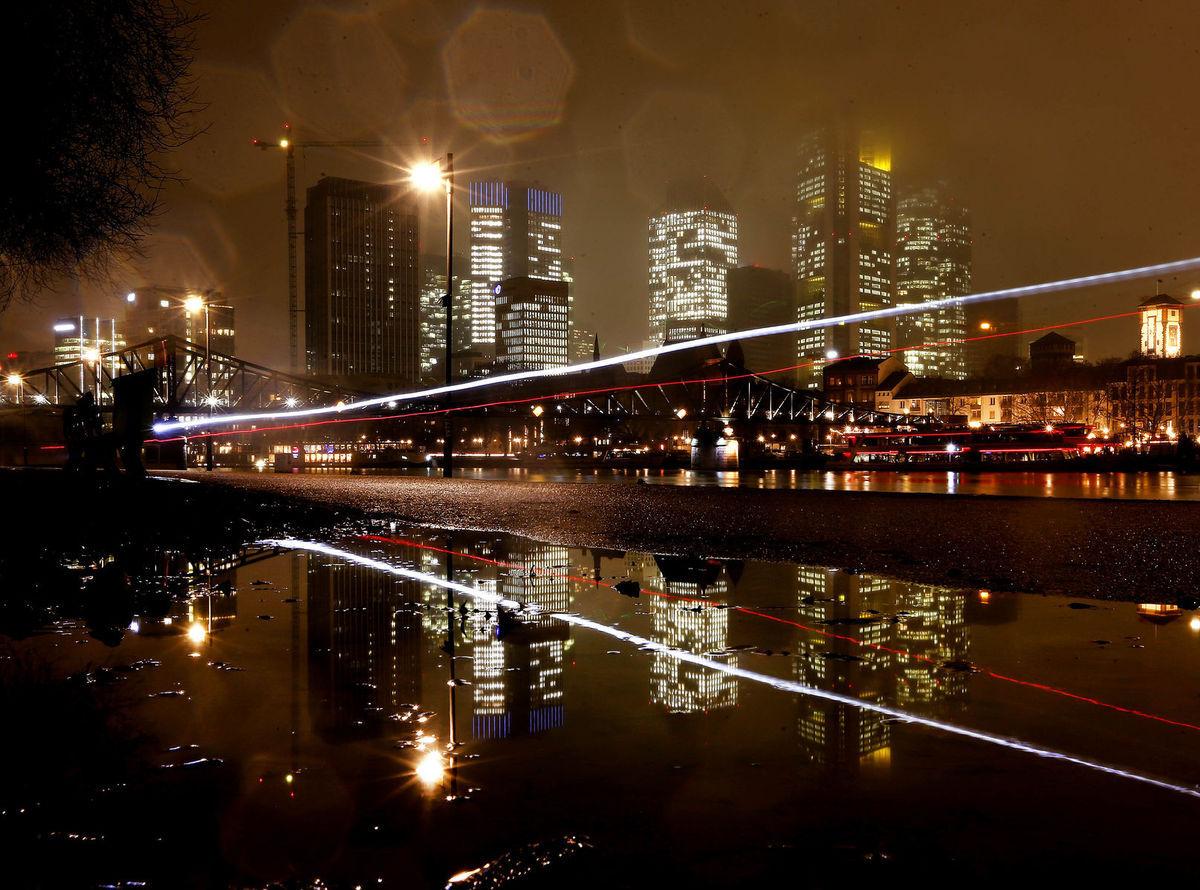 Nemecko, mesto, doprava, dážď, Frankfurt