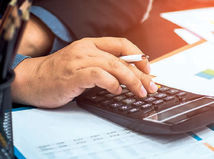 ekonomika, kalkulačka, graf, rozpočet