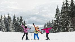 Kubínska hoľa, lyžiari, lyžovačka, zima, sneh