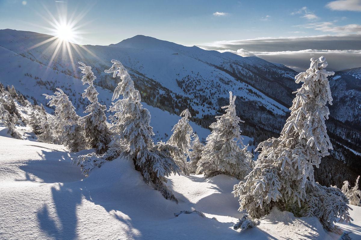 Malá Fatra hrebeňovka, zima, hory, sneh