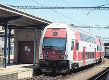 vlak, poschodový, stanica, železnice, koľaj