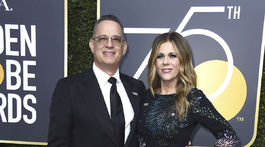 Herec Tom Hanks a jeho manželka Rita Wilson.