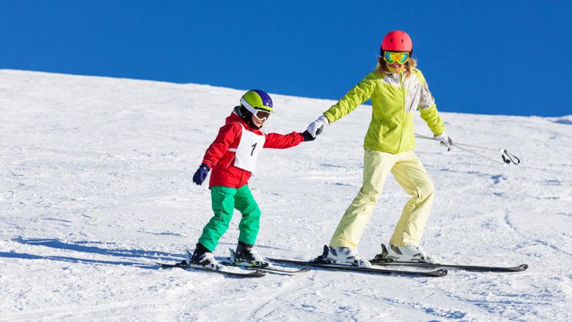 lyžovačka, lyže, lyžiari, sneh, zima,...