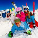lyžovanie, lyžovačka, rodina, zima, sneh
