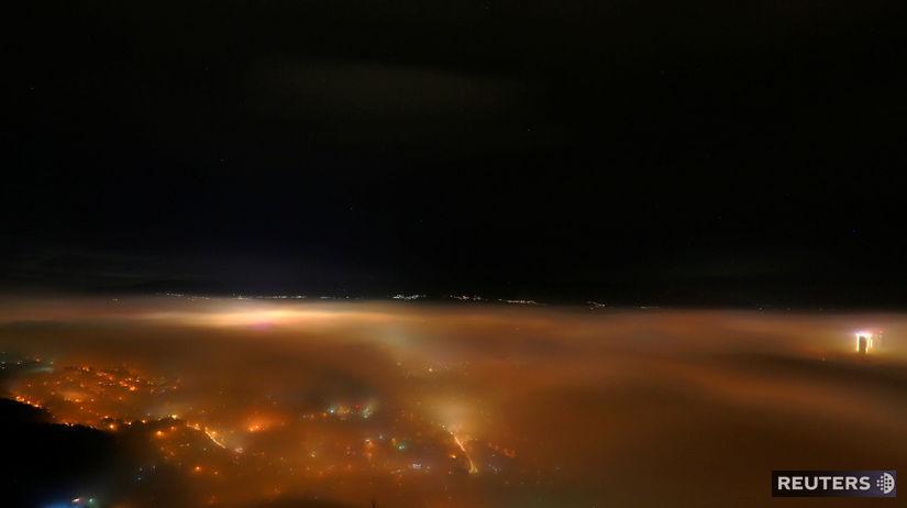 Skopje, smog, hmla