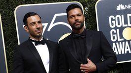 Výtvarník Jwan Yosef (vľavo) a jeho partner Ricky Martin.