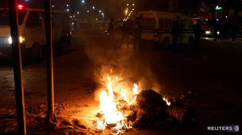 Protest Tunisko