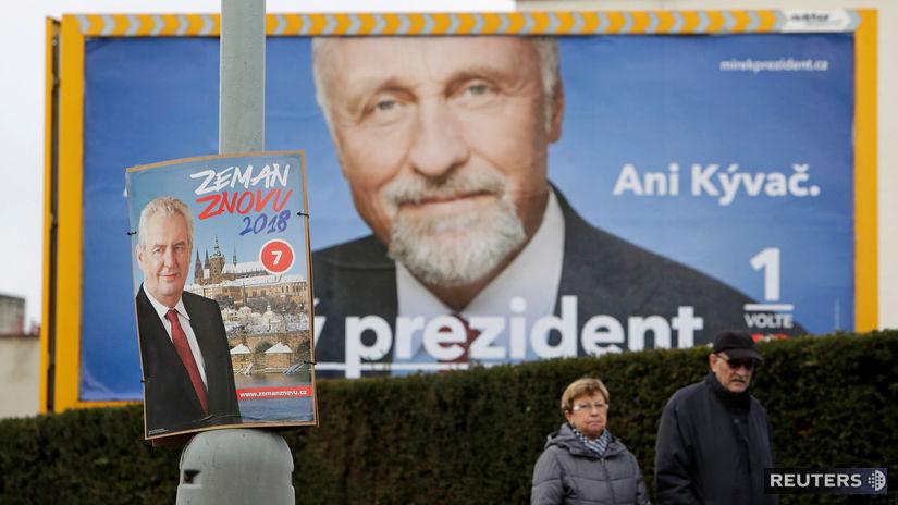 česko, prezidentské voľby, zeman, topolanek