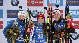 Kaisa Mäkäräinenová, Dothea Wiererová, Rosanna Crawfordová.