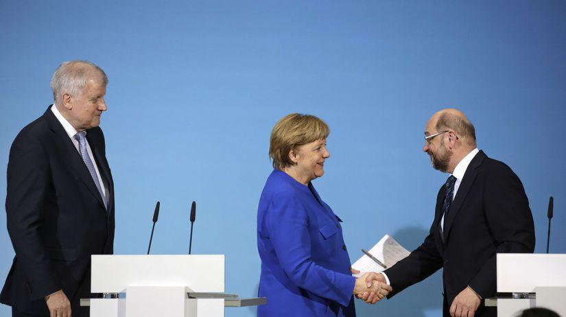 Angela Merkelová, Horst Seehofer, Martin Schulz