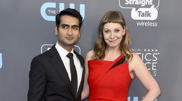 Herec Kumail Nanjiani a jeho manželka - scenáristka Emily V. Gordon.