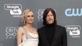 Herečka Diane Kruger prišla v spoločnosti priateľa Normana Reedusa.