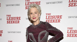 Herečka Helen Mirren na premiére filmu The Leisure Seeker.
