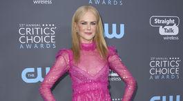 Herečka Nicole Kidman si obliekla šaty značky Valentino.