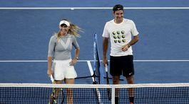 Caroline Wozniacka a Roger Federer