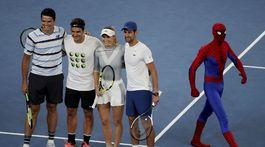 Milos Raonic, Roger Federer, Caroline Wozniacka, Novak Djokovič