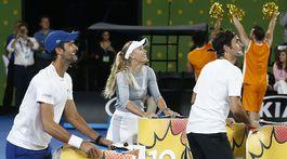 Novak Djokovič, Caroline Wozniacka, Roger Federer
