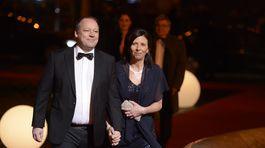 Generálny riaditeľ TV Markíza Matthias Settele s manželkou.
