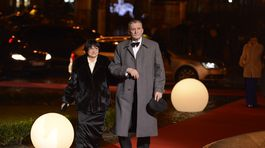 Herec Martin Huba a jeho manželka Dagmar.