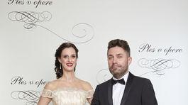 Tibor Búza s partnerkou na 18. Plese v opere.