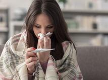 chrípka, nádcha, teplota, choroba, horúčka,