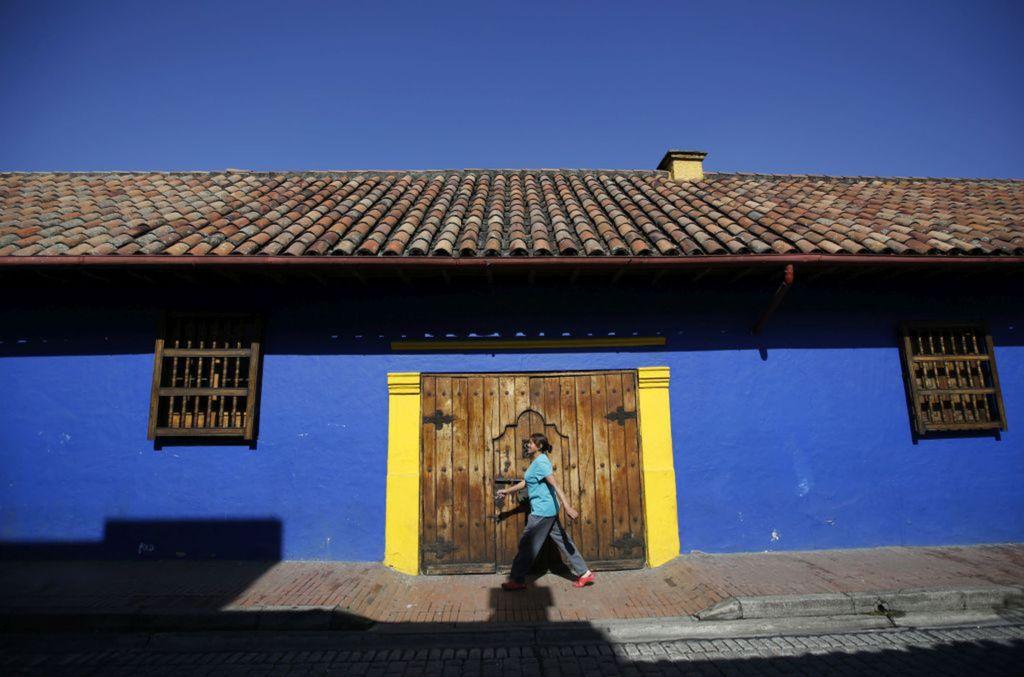 Kolumbia, modrý dom, Bogota