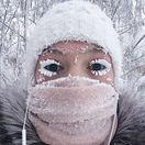 zima, jakutsko, rusko, mrazy, selfie