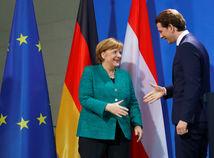 Angela Merkelová Sebastian Kurz