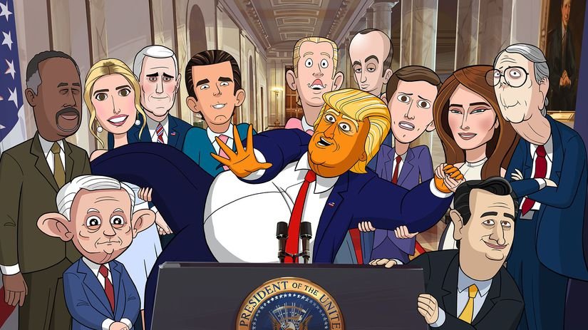 our cartoon president, trump,