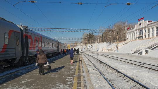 Transsibírska magistrála, vlak, železnica, Rusko