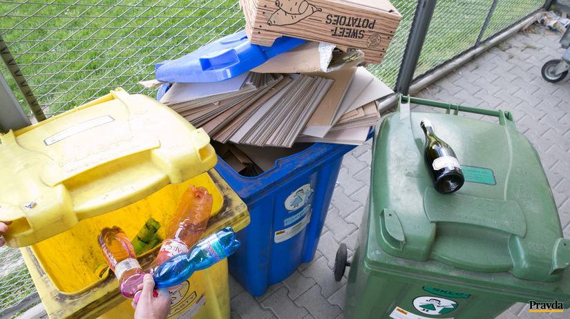 triedeny odpad, separovany zber, petflase,...