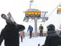 tatranska lomnica, lyzovanie, sneh, prazdniny, lyziar