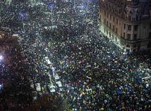 Bukurešť, protest