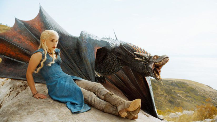 daenerys, drak, hra o tróny, game of thrones,