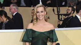 Herečka Reese Witherspoon v kreácii Zac Posen.