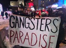 davos, trump, protest