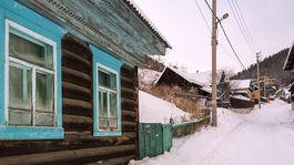 Dedina pri jazere, Bajkal, Rusko