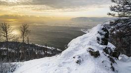 jazero Bajkal, Rusko, zima, sneh