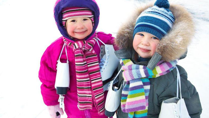 korčuľovanie, deti, zima, mráz,