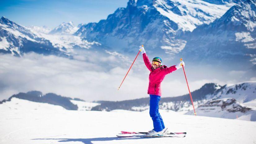 lyžovanie, lyžiar, lyžovačka, sneh, svah, zima