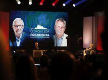 Zeman a Drahoš sa stretli v prvom prezidentskom dueli tvárou v tvár