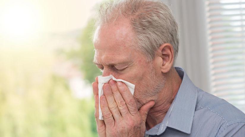 chrípka, choroba, nádcha, muž, dôchodca,...