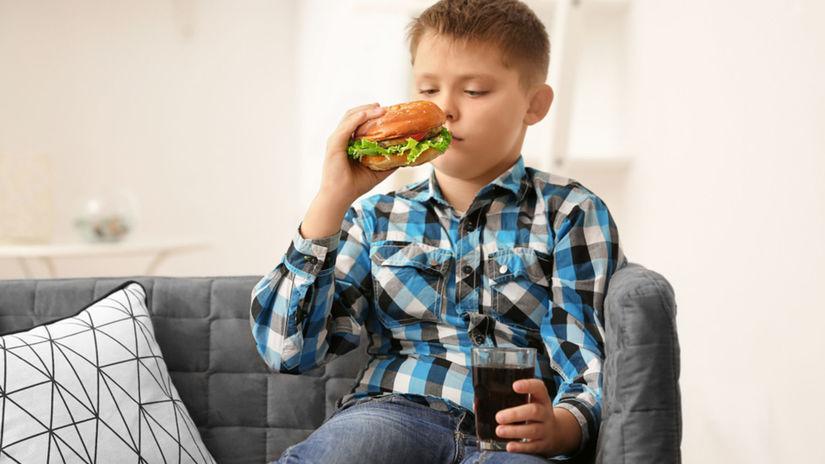 dieťa, nápoj, diéta, limonáda, hamburger