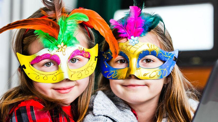 karneval, masky, deti