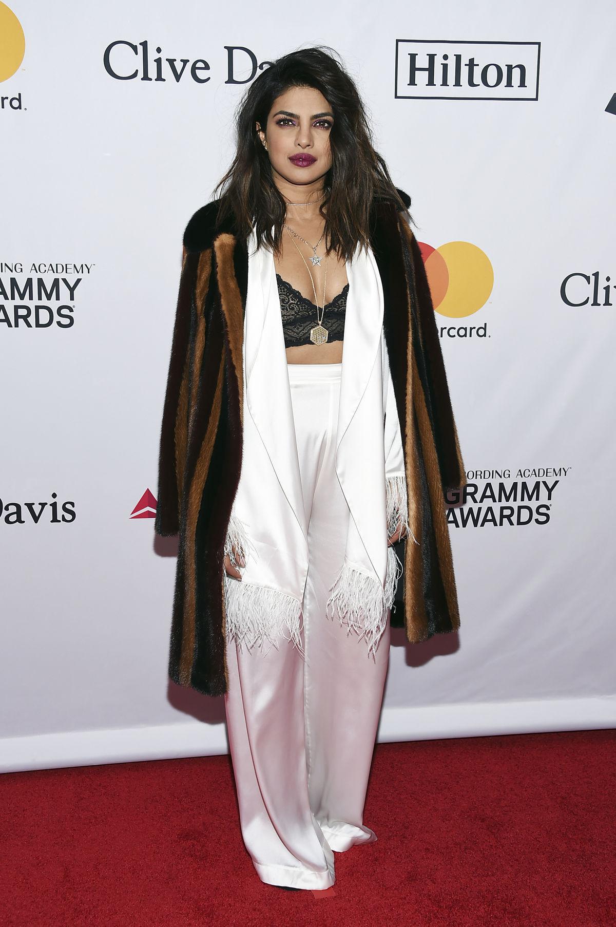 Herečka Priyanka Chopra na Pre-Grammy Gala And...