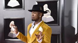 Ne-Yo na vyhlásení cien 60. ročníka Grammy Awards.