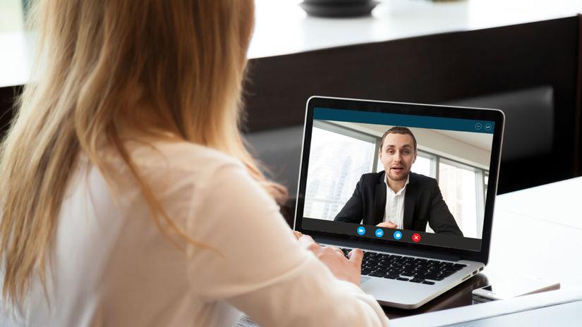 skype, pohovor, počítač, laptop, notebook, pohovor